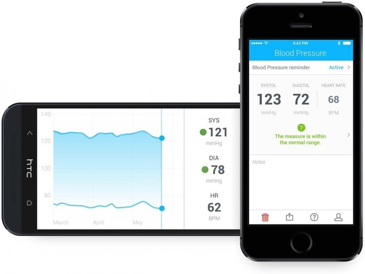 Wireless Smart Blood Pressure Monitor Syncs To Your Smart Phone