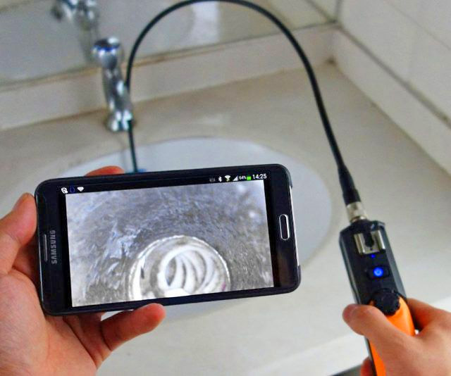 Smart Phone Endoscope Tiny Camera to see inside vents
