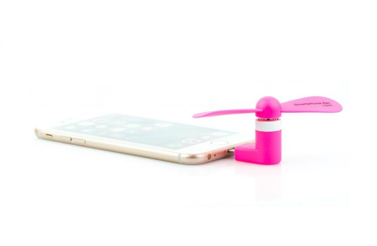 Smart Phone Fan Attachment - Android Blowing Fan - iPhone Blowing Hair For Selfies