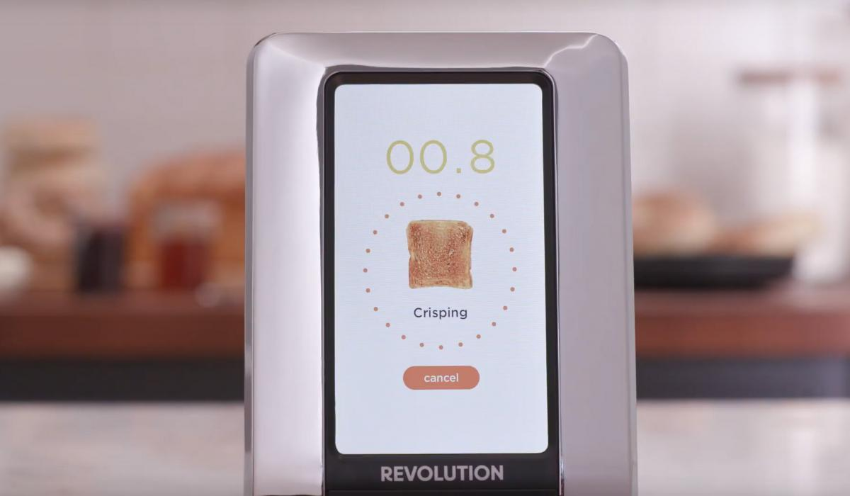 Smart Toaster With a Built-In Touchscreen - Futuristic Modern Toaster with digital display