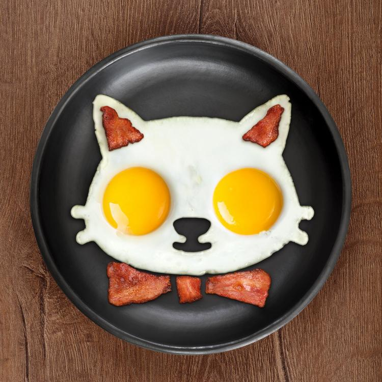 Cat Egg Mold - Cat Shaped Breakfast Mold