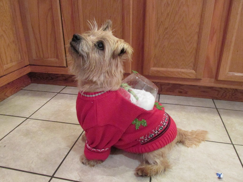 Snow Globe Ugly Christmas Sweater For Dogs