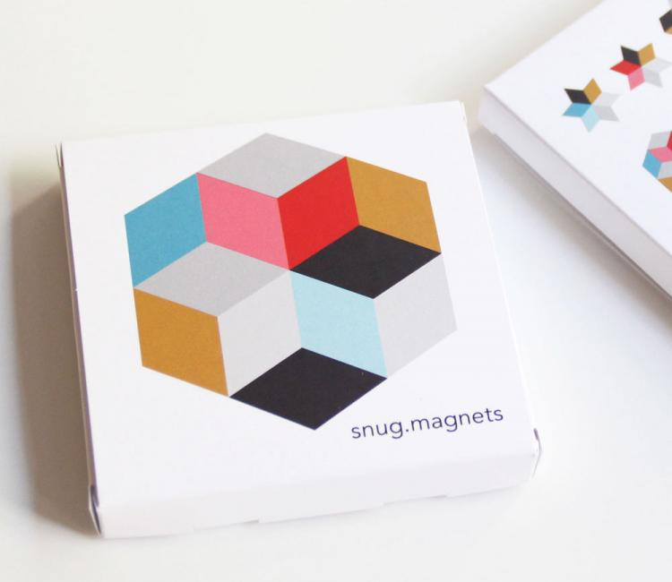 Snug Magnets - 3D colored magnet set