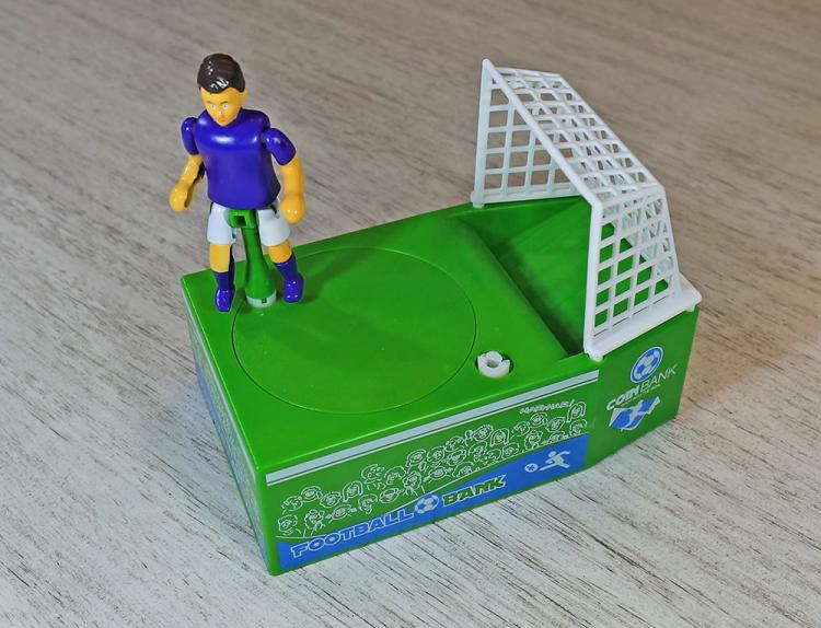 Soccer Kicking Coin Bank - Football coin kicking piggy bank
