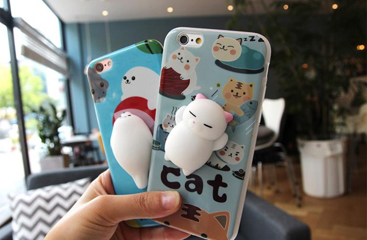 Soft and Squishy cat Creatures phone case - Stress ball iphone case - Squishy Cat iPhone Case