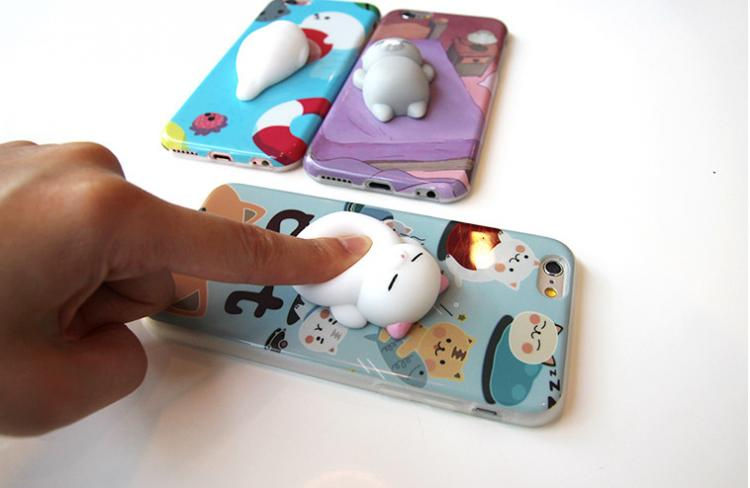 Squishy Cat Belly Phone Case : These iPhone Cases Have Soft Squishy Cats On The Back of Them