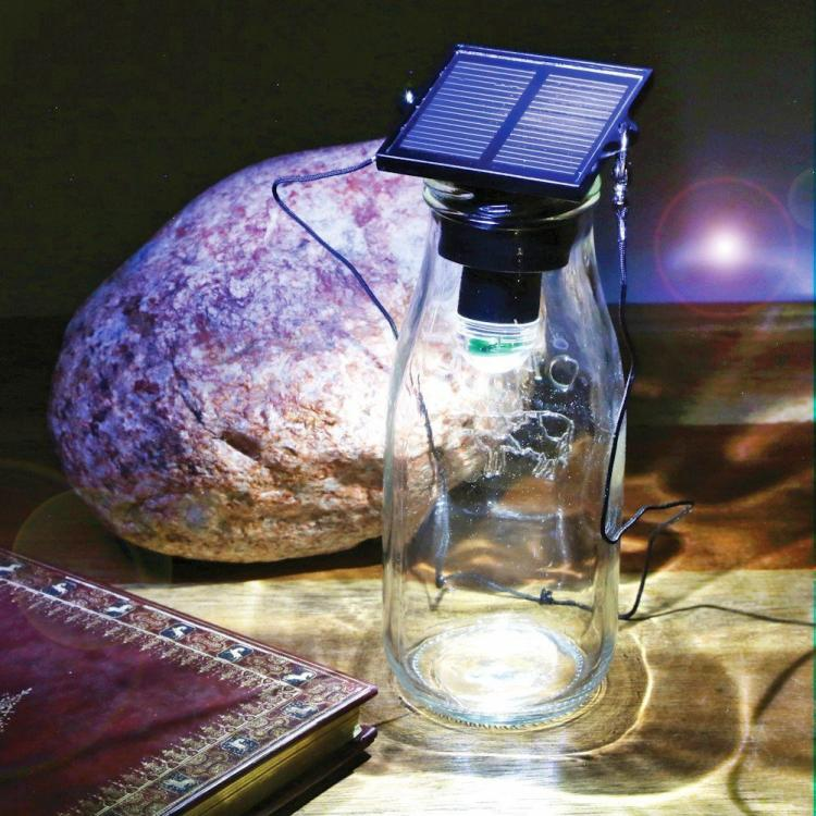 Solar LED Bottle Light Turns Any Bottle Into a Lamp