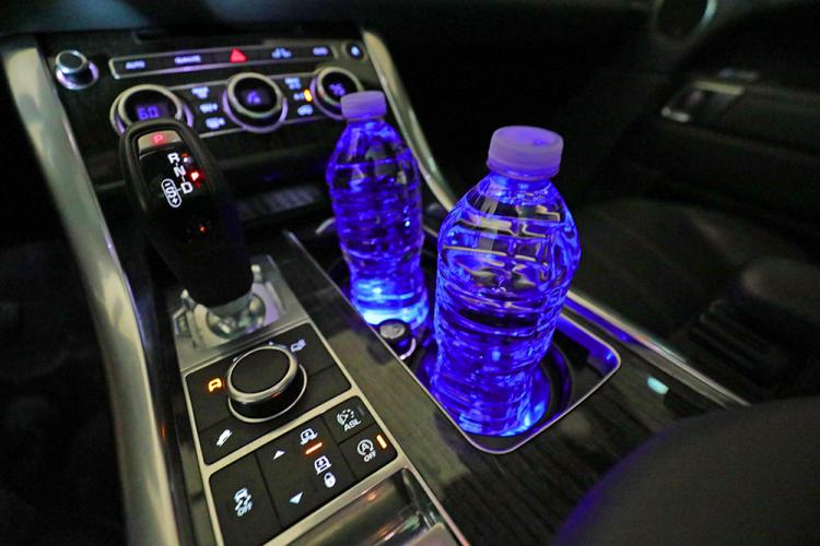Solar Powered LED Car Cup Holder Lights - Light-up cup holders for your car