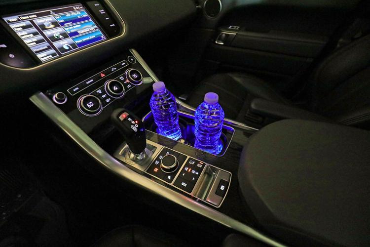 Solar Powered Led Car Cup Holder Lights 2 Pack
