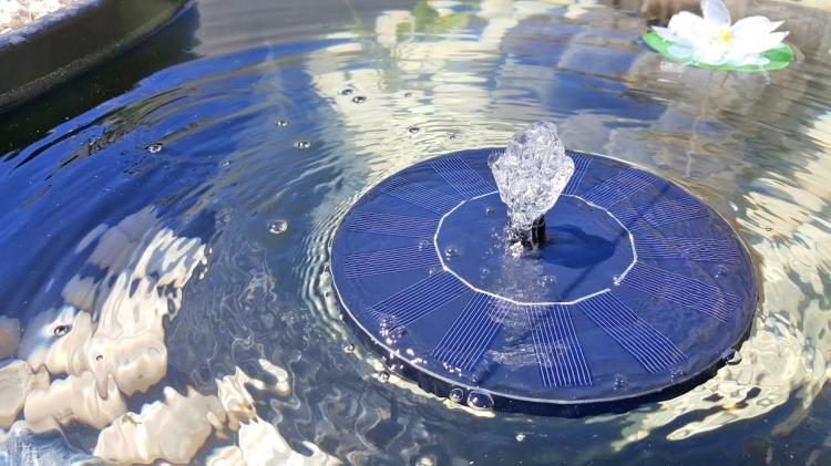 Nice The Anker Solar Water Fountain Is Powered By Direct Sunlight, And Will Shut  Off If There Is Any Sort Of Shade Over The Solar Panels Or Is Ever Not In  Direct ...