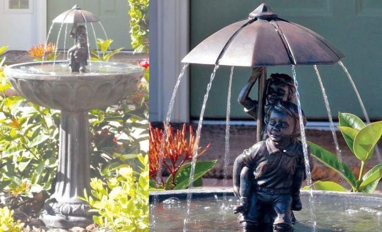 This Solar Powered Fountain Makes Endless Rain For Kids
