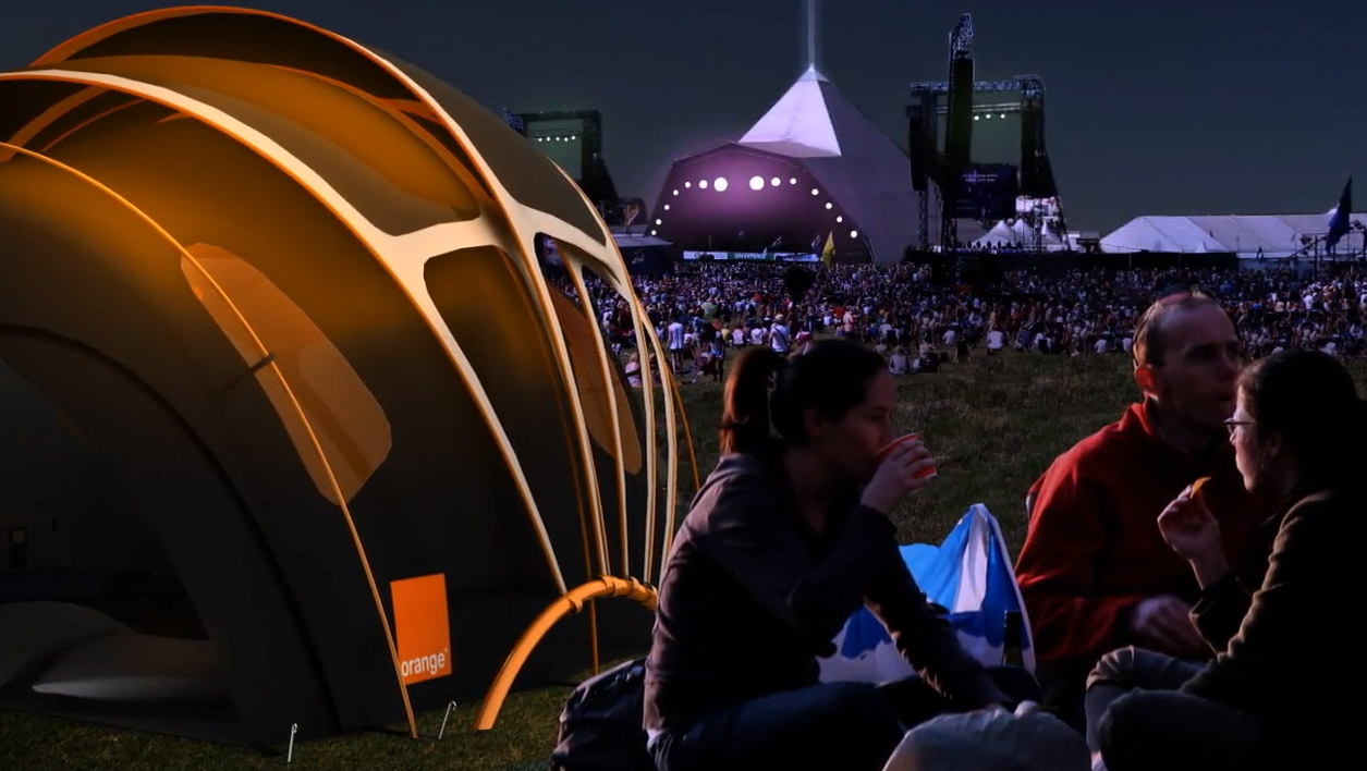 Solar Tent With Heated Floors - Chill n Charge Solar Tent From Orange and Kaleidoscope Design