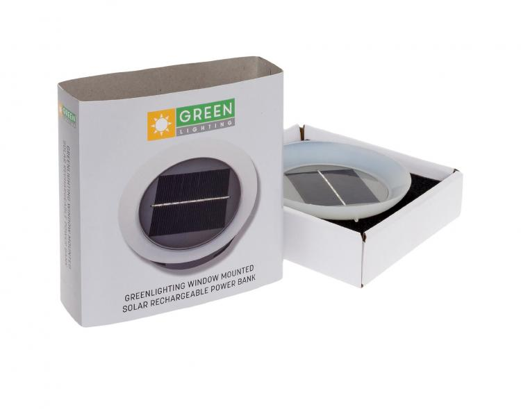 GreenLighting Solar Powered Phone Charger - Suction Cup To Any Window