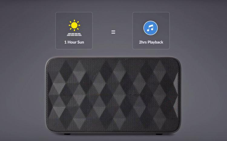 SolarBank 3-in-1 Solar Solar Powered Charger and Speaker