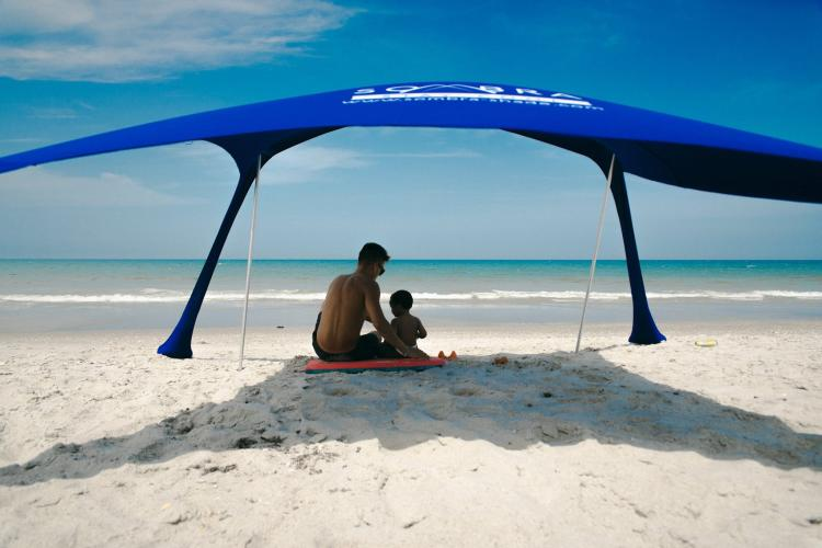 Sombra Shade Instant Beach Shader Tent - Sand Weighted Beach Shade Tent & Sombra Shade Instant Shade Tent For The Beach