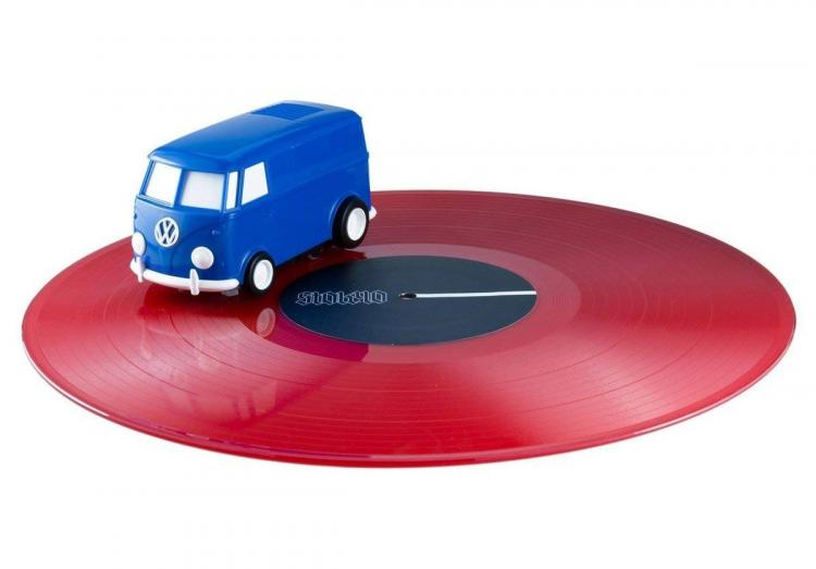 Soundwagon Portable Record Playing Hippy Van - Spinning Volkswagen Van Record Player Speaker