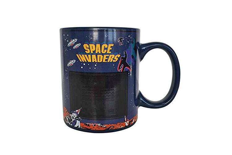 Retro Arcade Space Invaders Mug - Heat Changing Space Invaders Mug Turns on screen with hot liquid