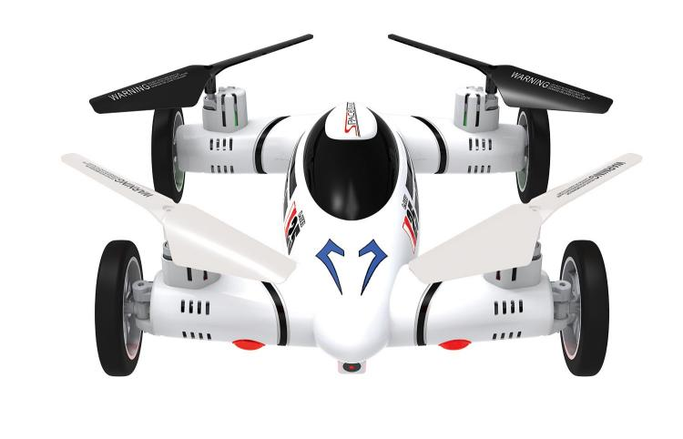 Moon Racer Flying Car RC Car Quadcopter Drone Combo Toy