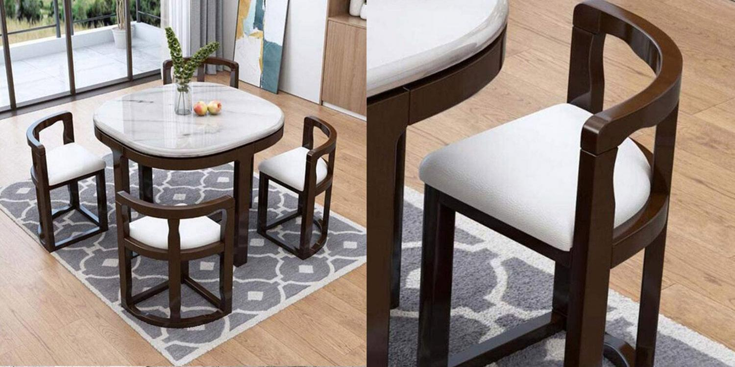 Space Saving Dining Table - Chairs Tuck Under Dining Table Unique Design For Tiny Homes