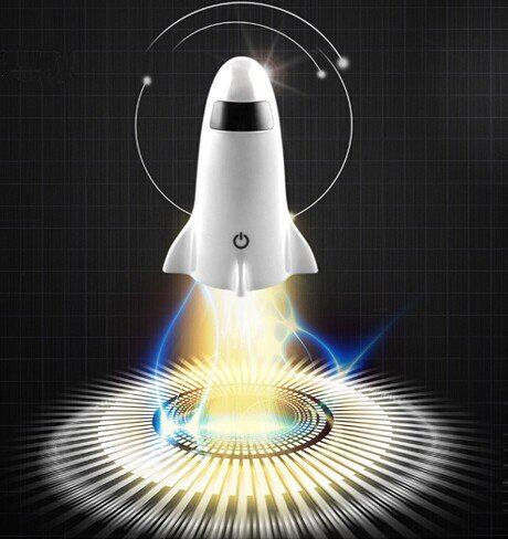 Spaceship Rocket Desk Lamp and Flashlight - Rocket lamp that doubles as a flashlight