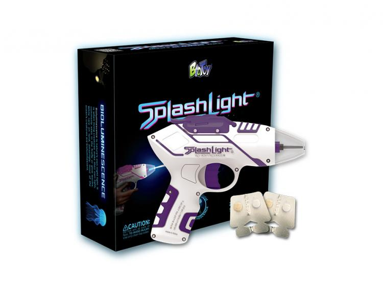 Splashlight Squirt Gun - Water Shoots Out Glowing Water - Glow in the dark water squirt gun