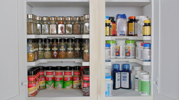 Spicy Shelf Cabinet Organizer - organize your spices - organize your medicine cabinet & Spicy Shelf Helps Organize Spice Cabinets Medicine Cabinets and More