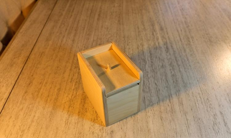 Spider Scare Box - Jumping Spider Prank Wooden Box