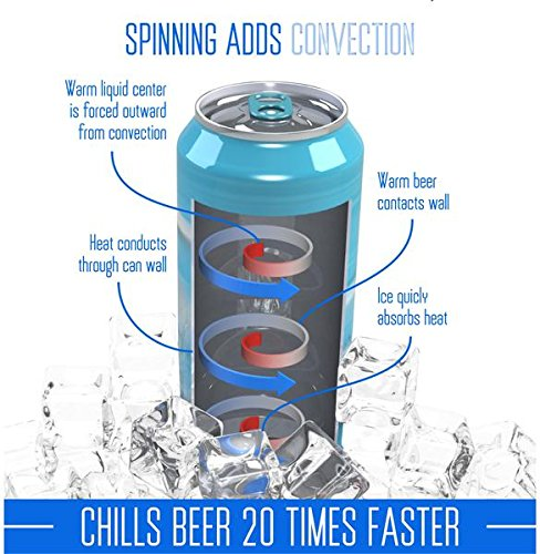 Spin Chill Drill Bit - Spins Beer in ice using your drill to chill it down