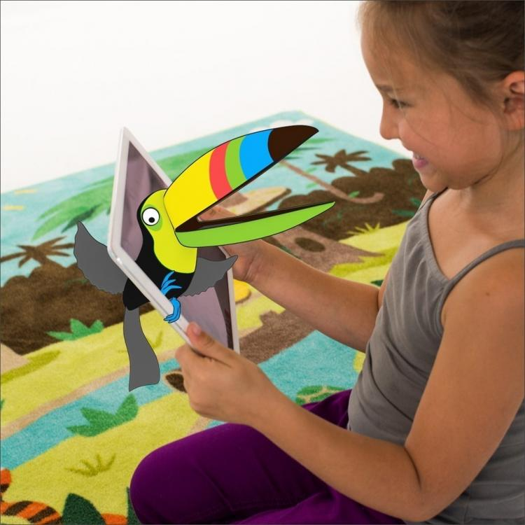 SpinTales Enchanted Rug: An Interactive Rug That Works With an iPad