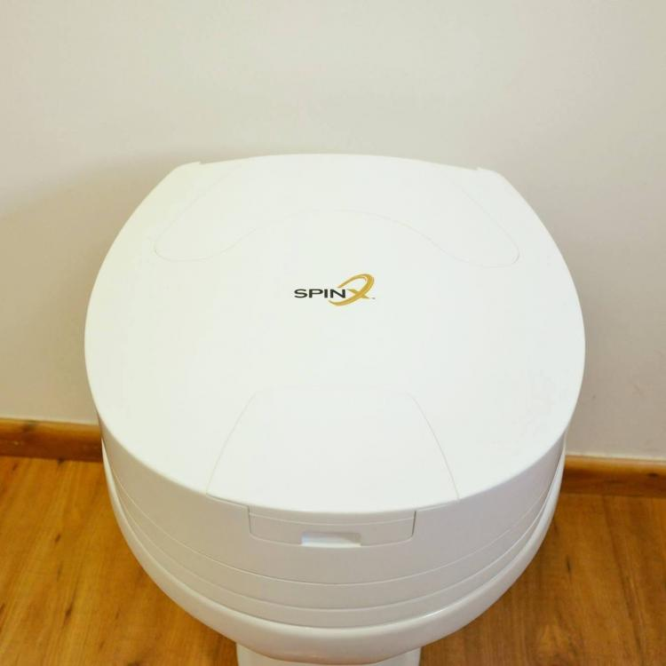 SPINX Toilet Cleaning Robot - Automatic toilet bowl and toilet seat cleaner robotic scrubbing arm