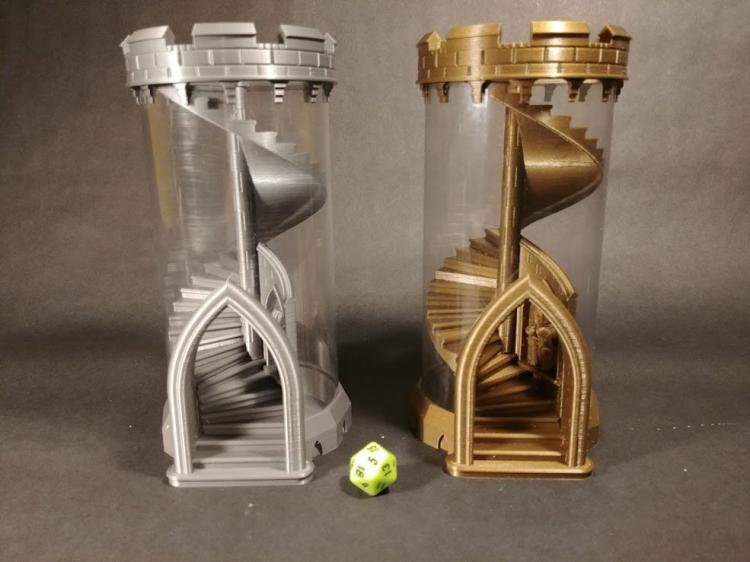 Spiral Staircase Dice Rolling Tower - Best dice rolling staircase tower