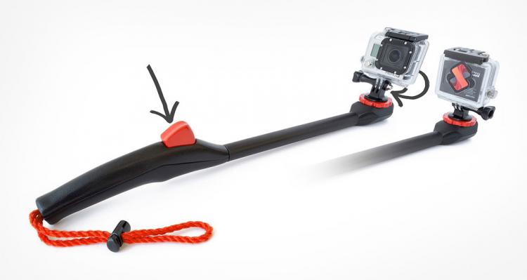 Spivo Selfie Pole That Pivots 180 Degrees With a Button
