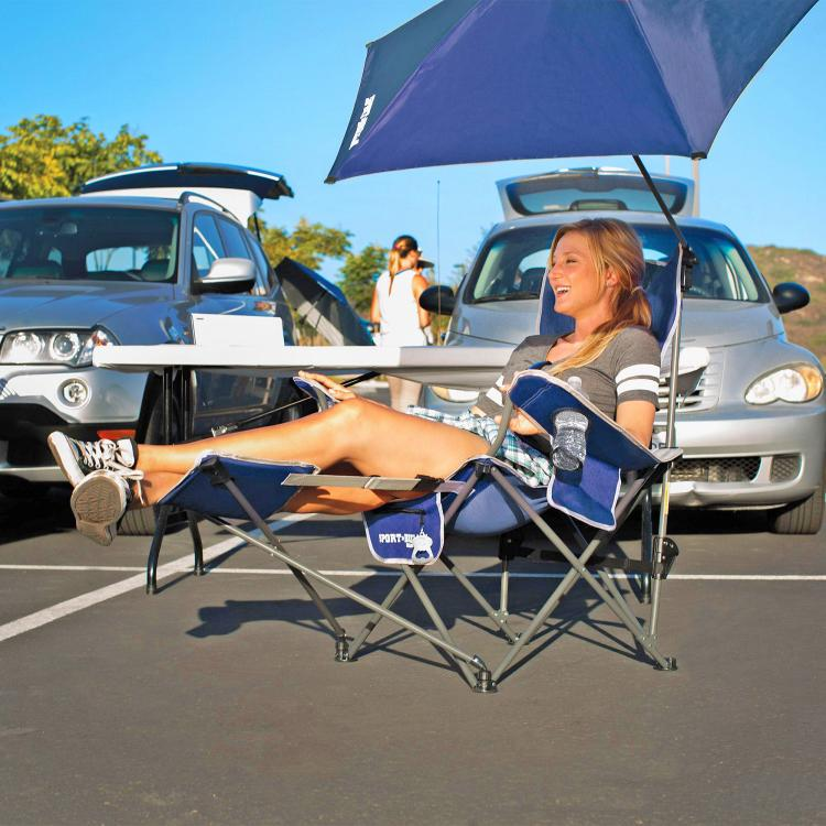 Sport-Brella Reclining Camping Chair With Attached Umbrella - Best Folding Camping Chair