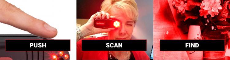 SpyFinder Hidden Camera Detector - LED Gadget helps finds secret cameras in hotels and AirBNB