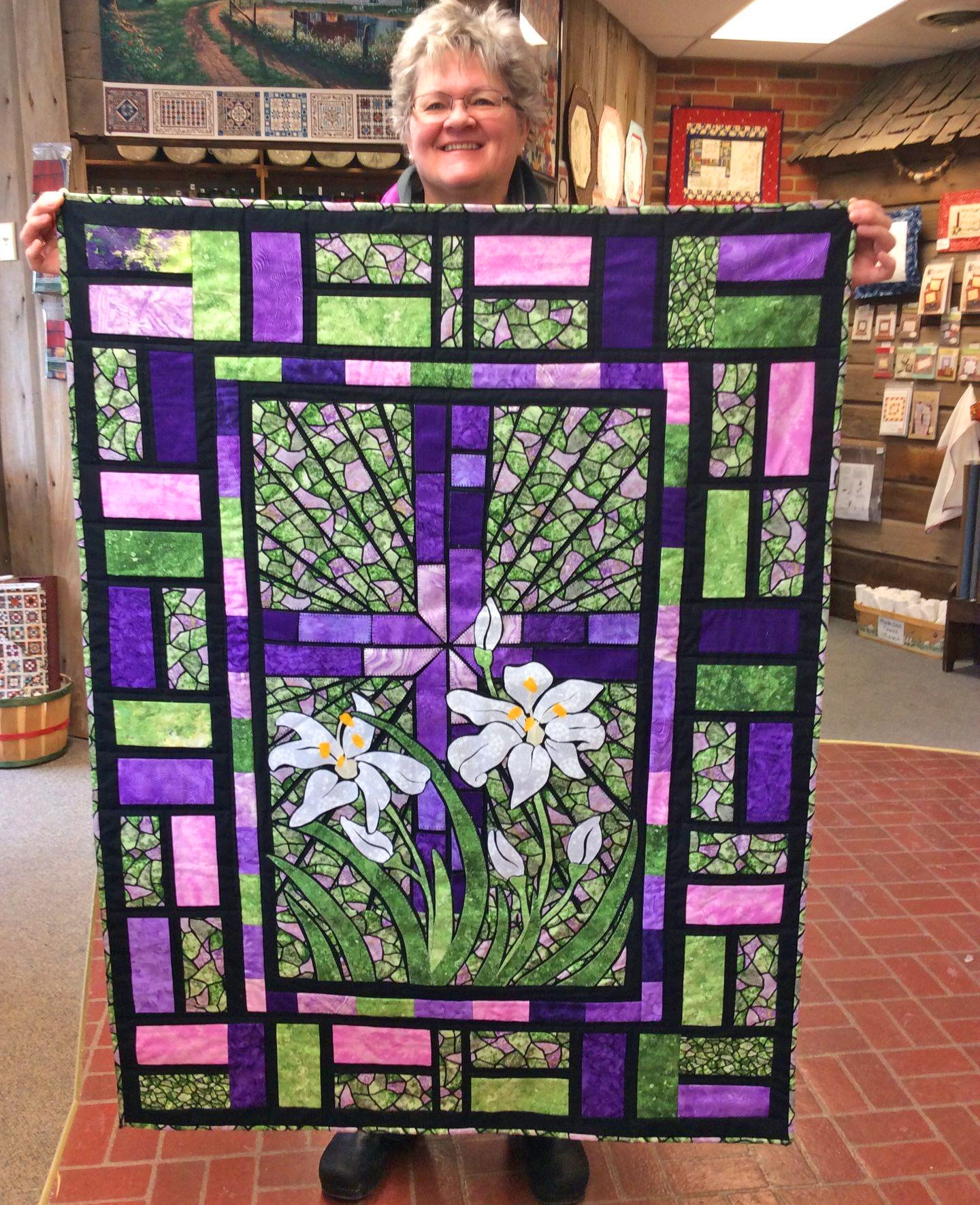 Stained Glass Quilt - Beautiful Quilts Made To Look Like Stained Glass Windows