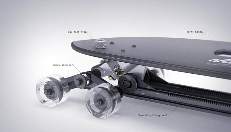 Stair Rover Longboard That Goes Down Stairs - 8 Wheel Longboard