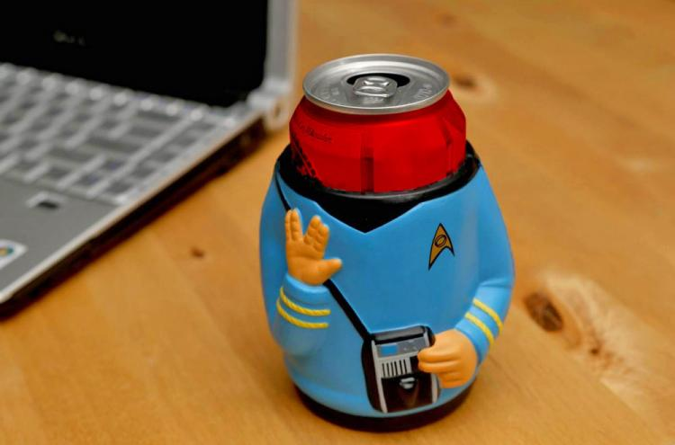 Star Trek Mr. Spock Beer Koozie - Vulcan Gesture Beer Koozie