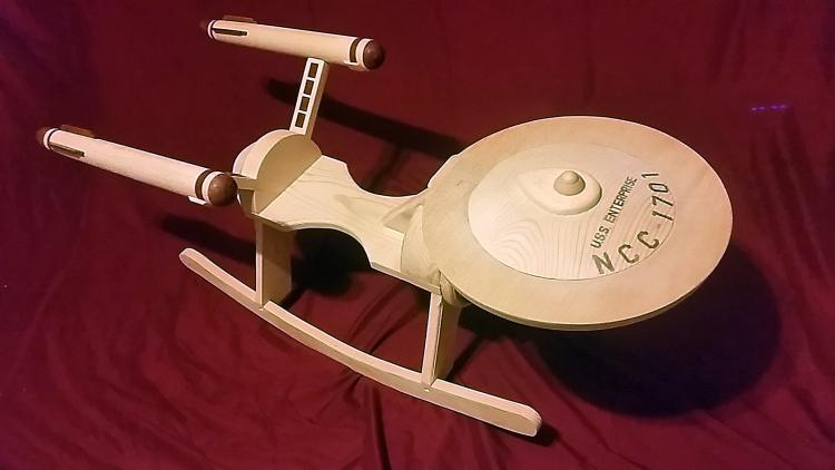Star Trek Enterprise Baby Rocking Horse - Star Trek Child Rocking Horse