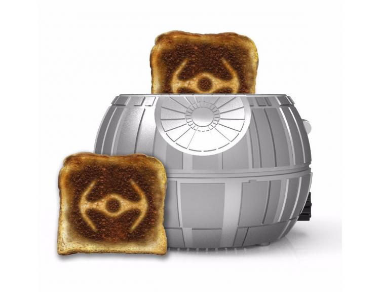 Star Wars Death Star Toaster - Toasts Image of Tie Fighter Onto Bread