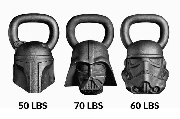 Star Wars Exercise Equipment - Darth Vader Kettle Bell - Stormtrooper Kettle Bell - Boba Fett Kettle Bell