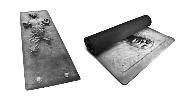 Star Wars Exercise Equipment - Hans Solo Stuck In Carbonite Yoga Mat - 3D Hans Solo Exercise Mat - Star Wars Yoga Mat