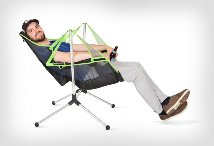 This Stargaze Recliner Is A Swinging Camping Chair That