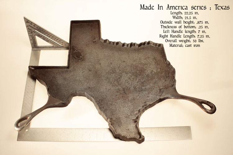 State Shaped Skillet Pans - Texas