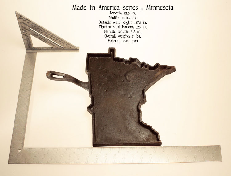 State Shaped Skillet Pans - Minnesota