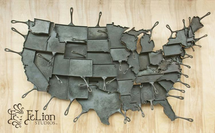 State Shaped Skillet Pans