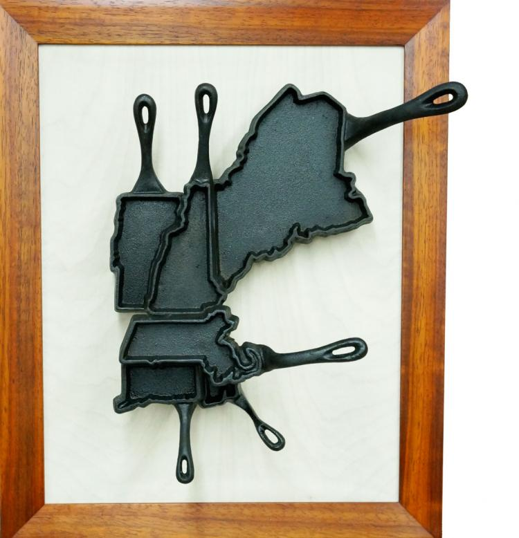 State Shaped Skillet Pans - New England