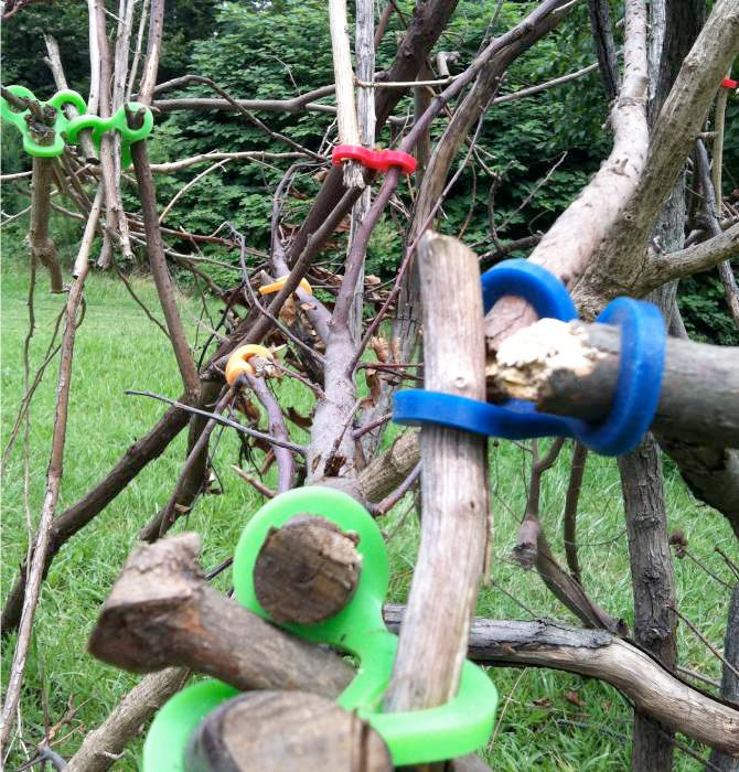 Stick-Lets Rubber Connectors To Make Forts From Sticks