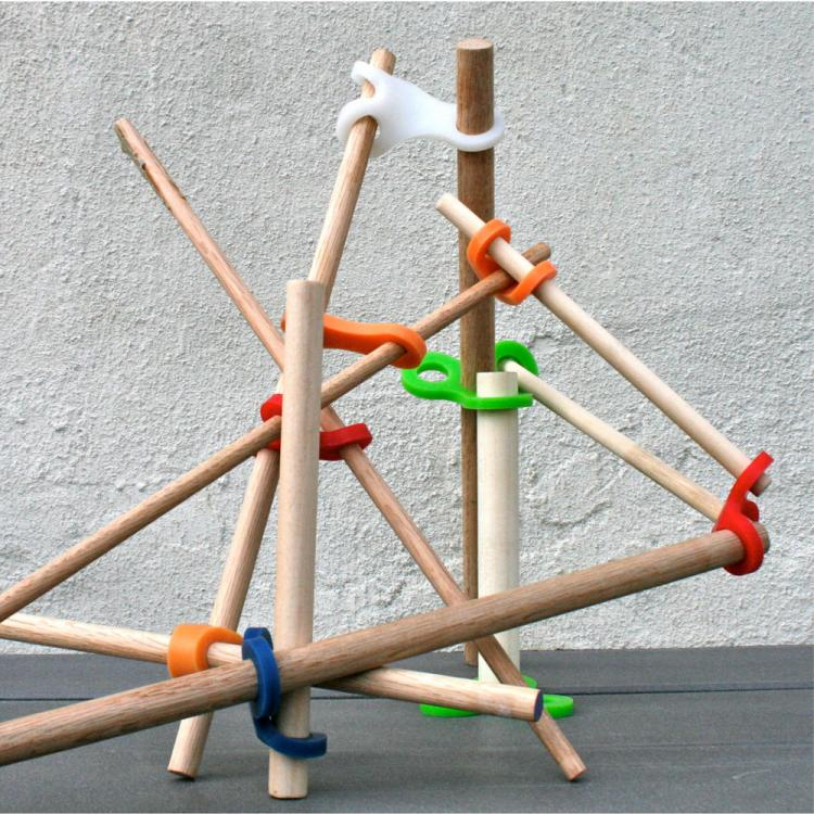 Stick-Lets Rubber Connectors To Make Forts