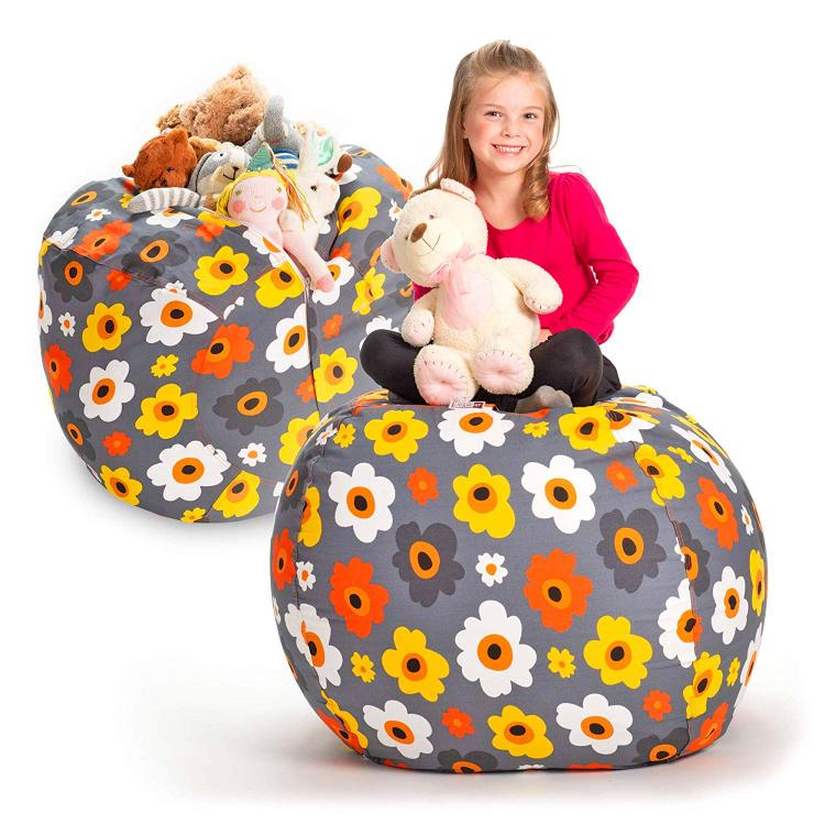This Bean Bag Chair Lets Your Child Store Their Stuffed