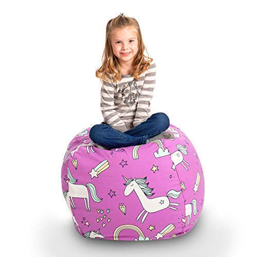 Pleasant This Bean Bag Chair Lets Your Child Store Their Stuffed Gmtry Best Dining Table And Chair Ideas Images Gmtryco